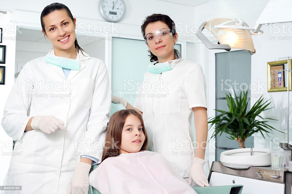 Girl visiting a dentist. royalty-free stock photo