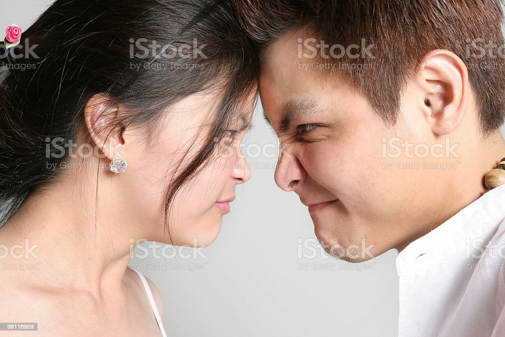 Girl Vs Guy royalty-free stock photo