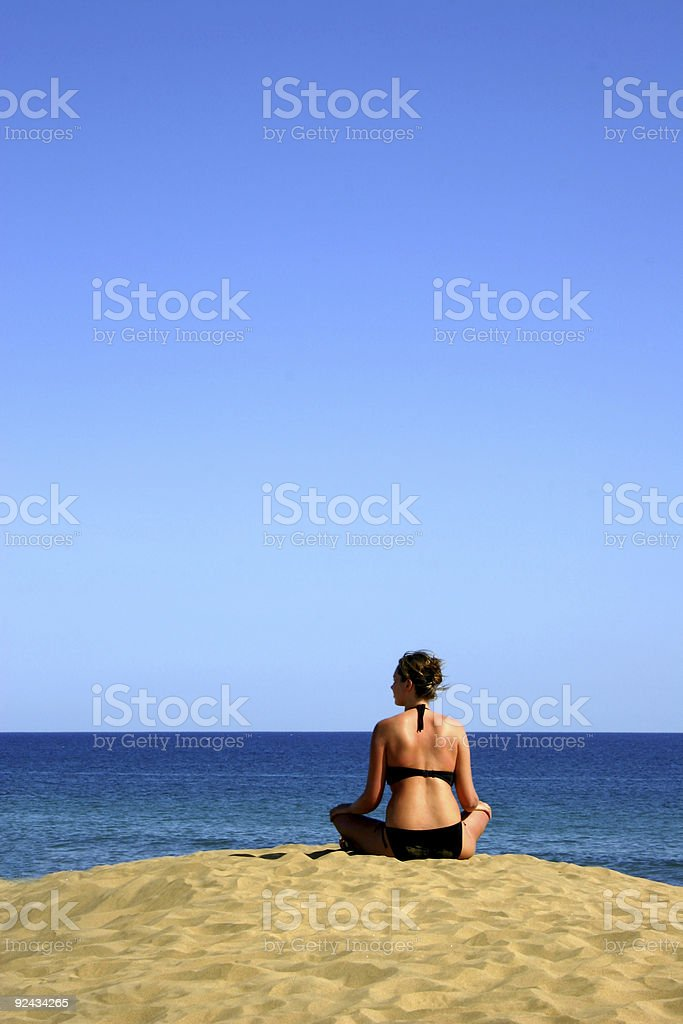 Girl watching the Ocean royalty-free stock photo