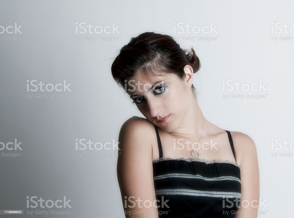 Girl Wearing a Ball Gown stock photo