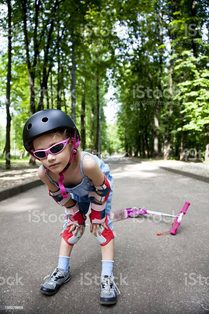 girl wearing sport uniform royalty-free stock photo