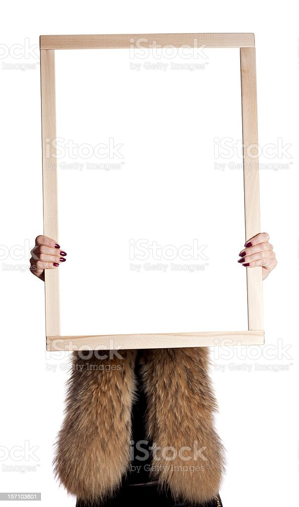 girl with a board royalty-free stock photo