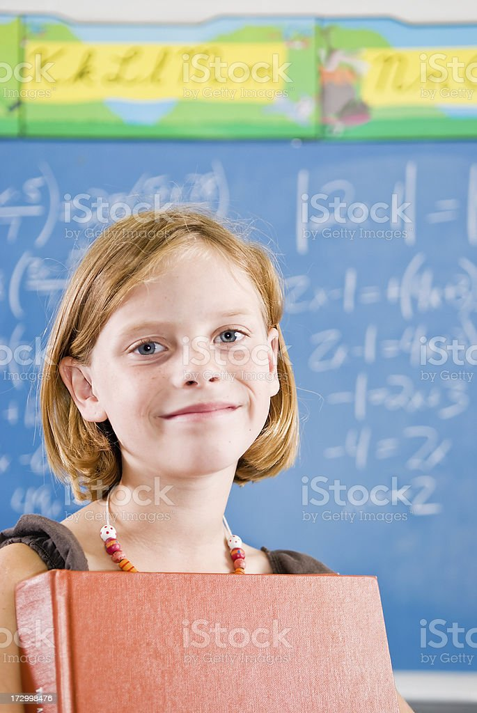 Mädchen mit einem Buch Lizenzfreies stock-foto