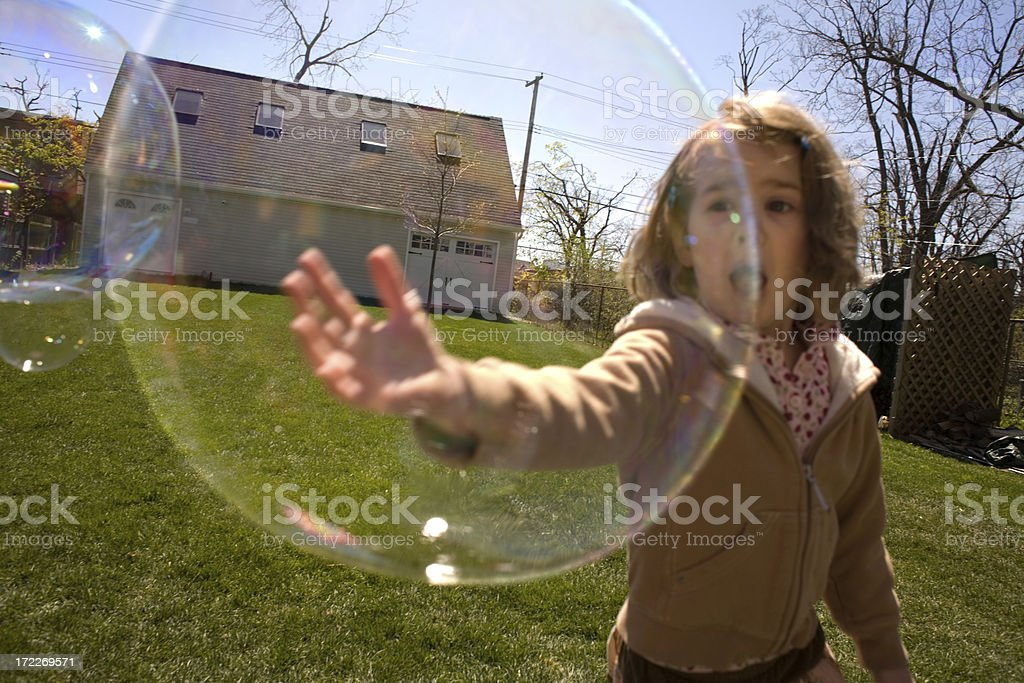 Girl with a Bubble stock photo