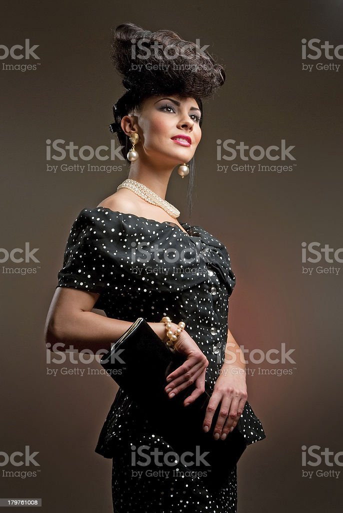 Girl with a chic haircut royalty-free stock photo