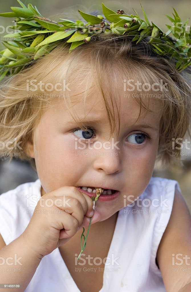 Girl with a Garland stock photo
