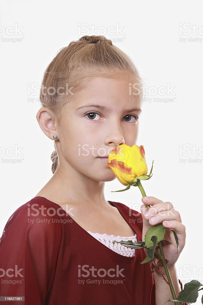 Girl with a rose royalty-free stock photo
