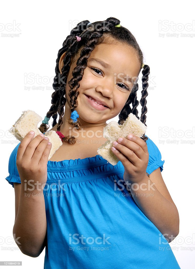 Girl with a Sandwich royalty-free stock photo