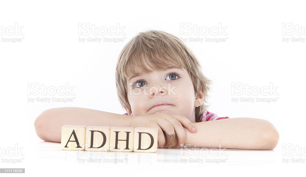Girl with ADHD stock photo