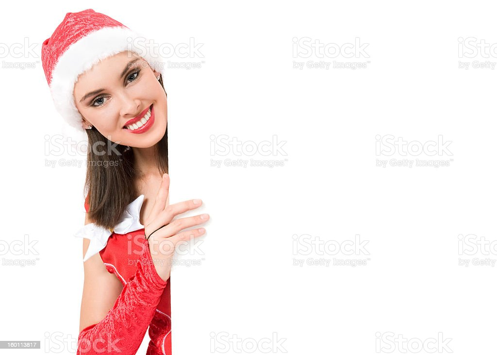 Girl with announcement royalty-free stock photo