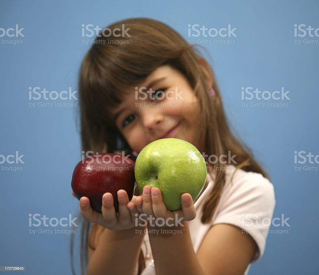 girl with apples royalty-free stock photo
