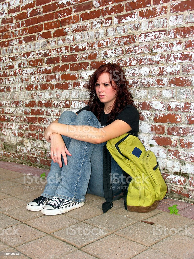 Girl with bag 5 royalty-free stock photo