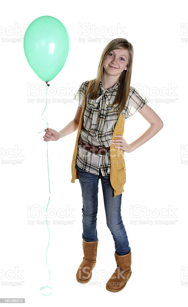 Girl with Balloon royalty-free stock photo