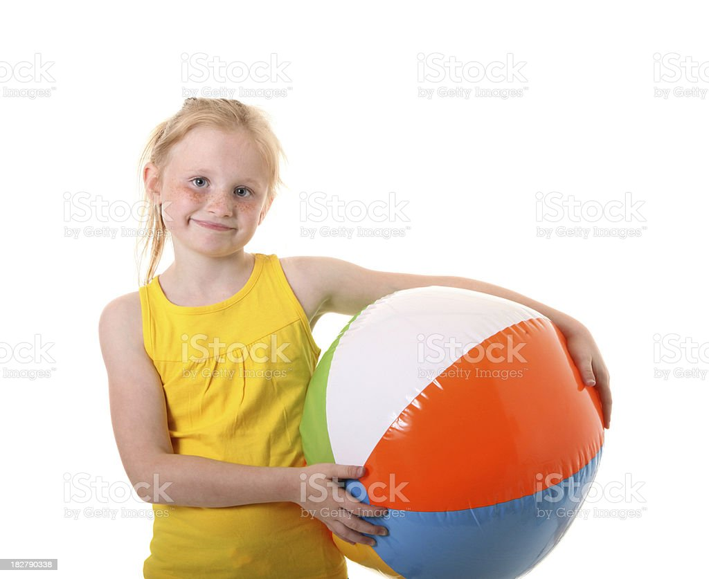 girl with beach ball royalty-free stock photo