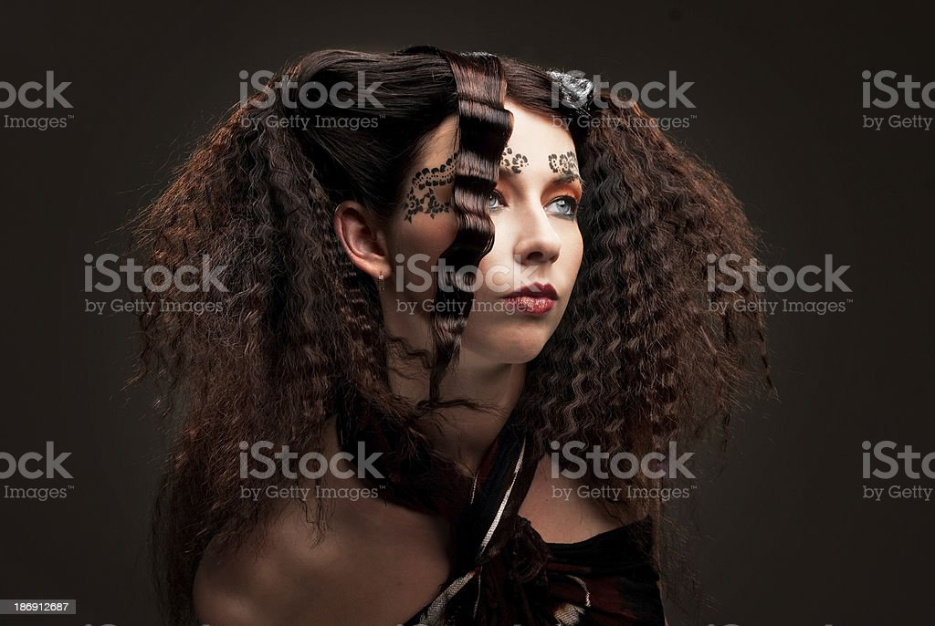 Girl with beautiful make-up royalty-free stock photo