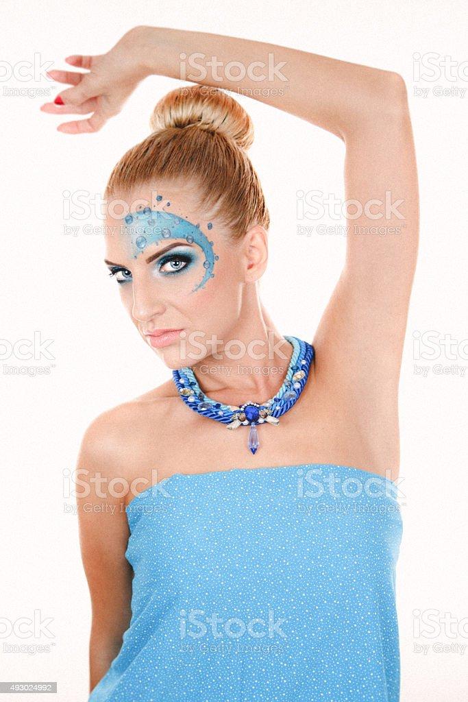 Girl with beautiful makeup stock photo