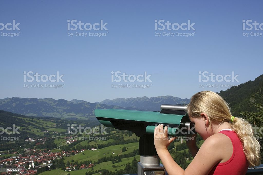 Girl with beautiful view royalty-free stock photo