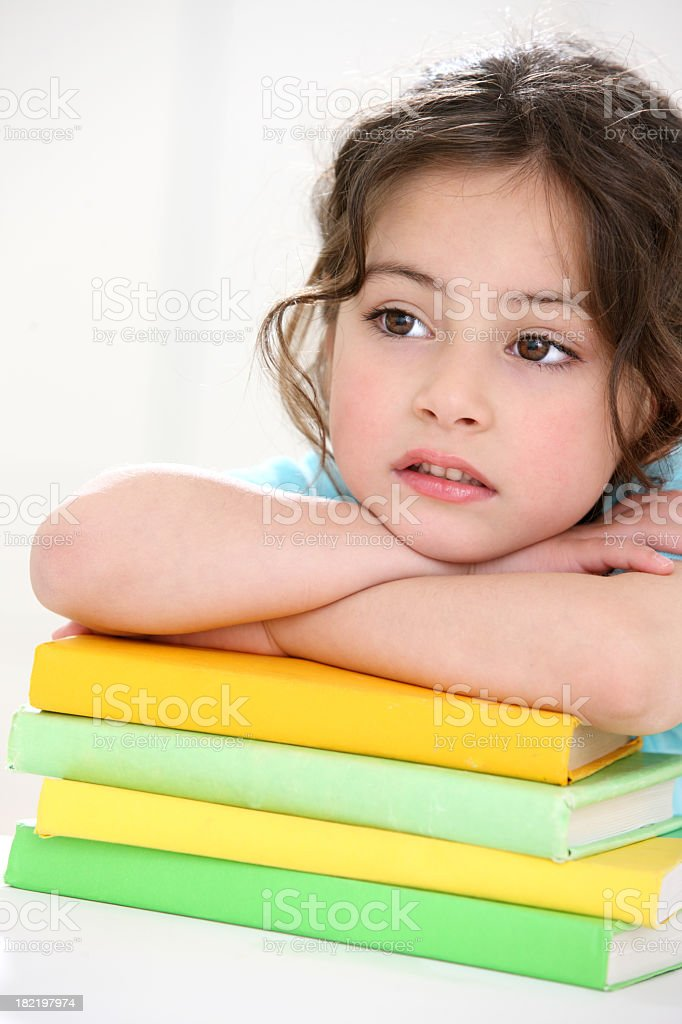 Girl with books royalty-free stock photo