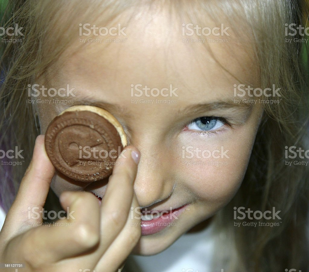 girl with cake royalty-free stock photo