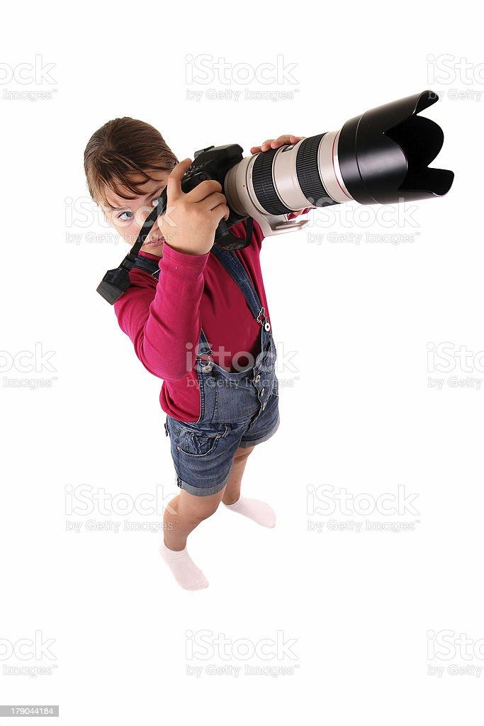 Fille avec un appareil photo photo libre de droits
