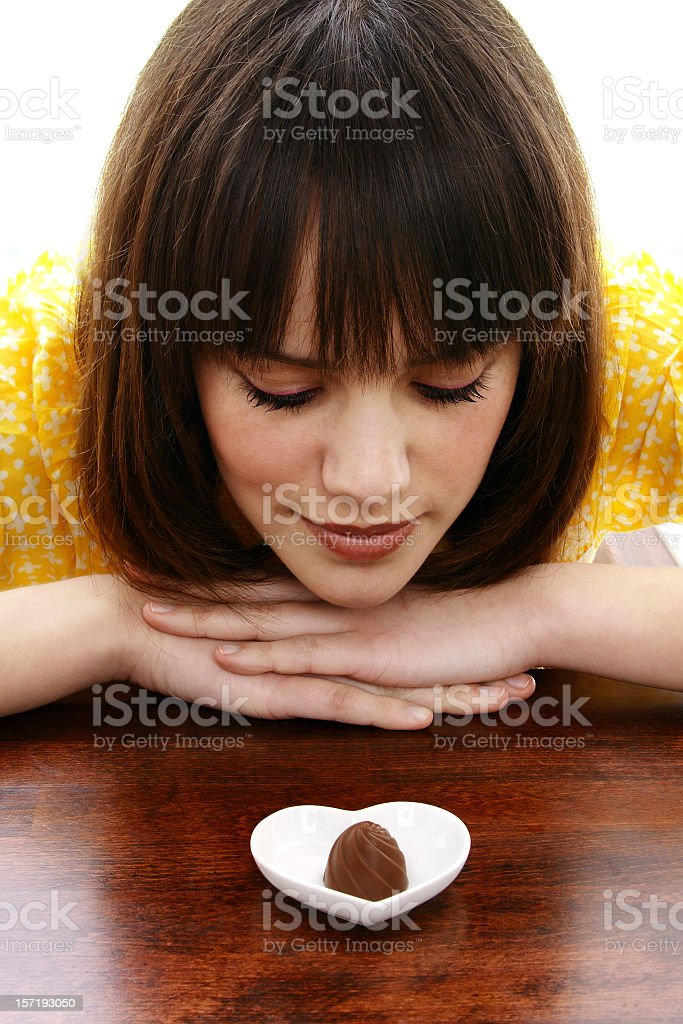 Girl with chocolate royalty-free stock photo