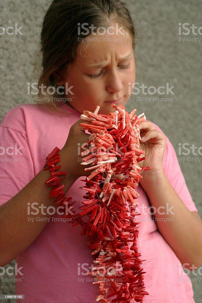 Fille avec des coraux photo libre de droits