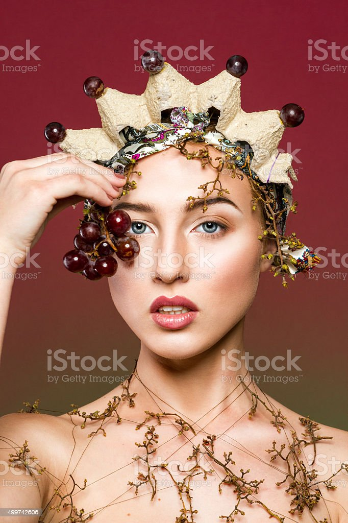 Girl with crown royalty-free stock photo