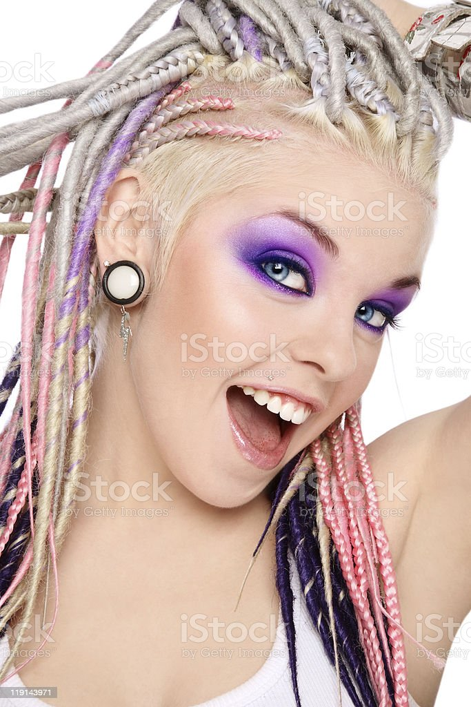 Girl with dreads royalty-free stock photo