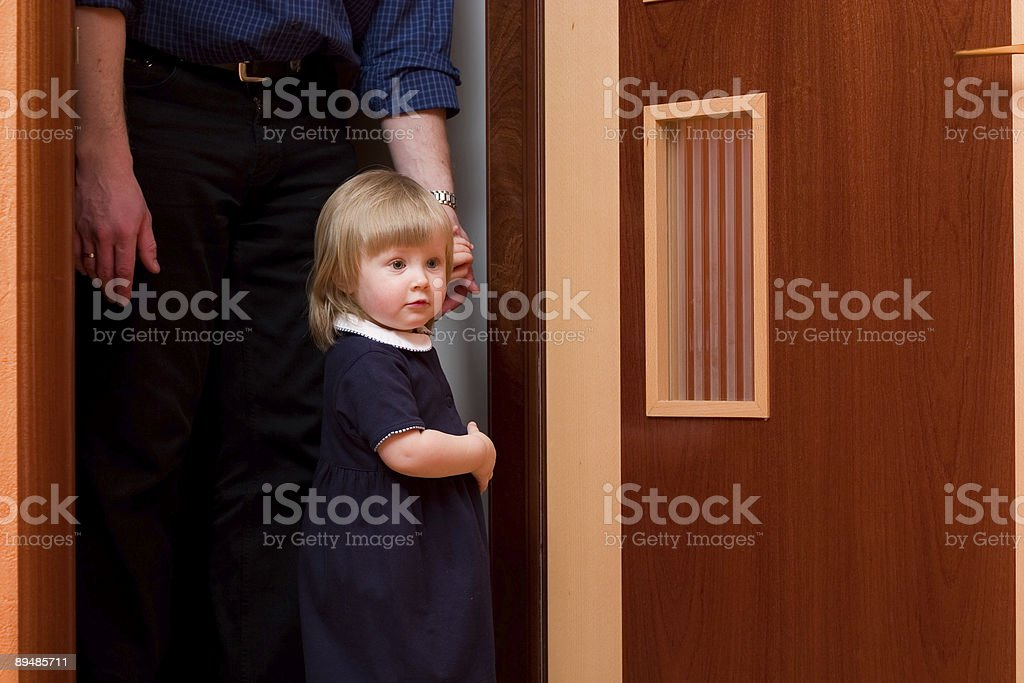 girl with father royalty-free stock photo