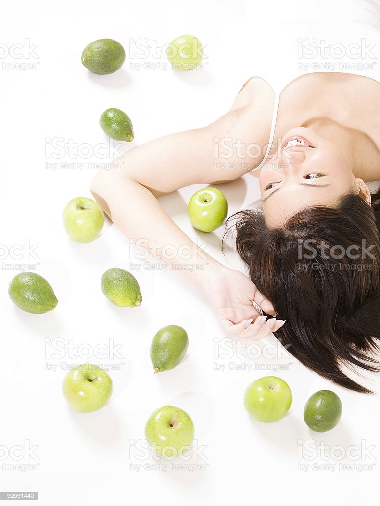 Girl With Fruits 7 royalty-free stock photo