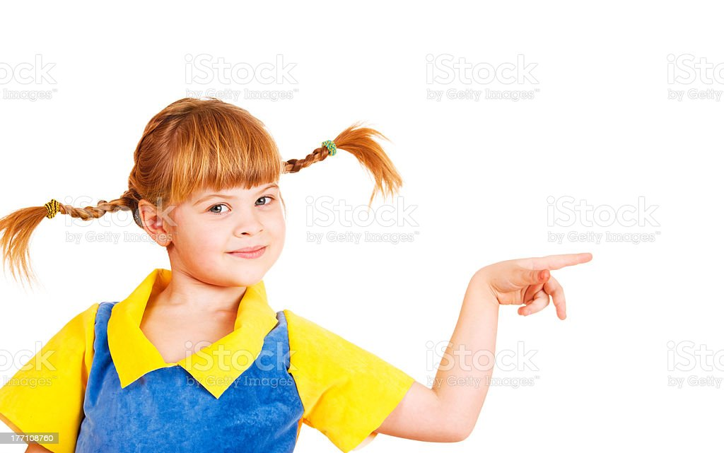 girl with funny braids stock photo