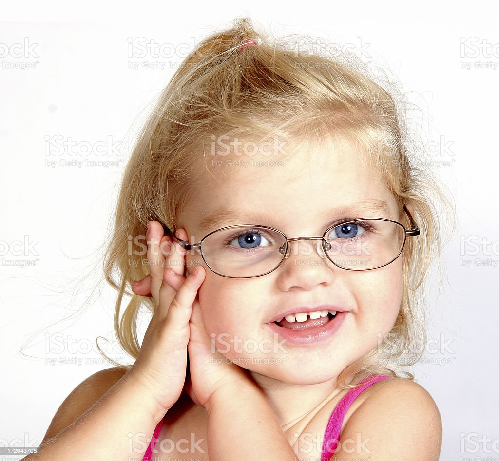 Girl with Glasses (1) royalty-free stock photo