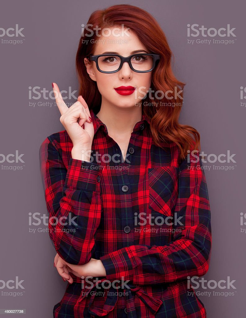 Girl with glasses stock photo
