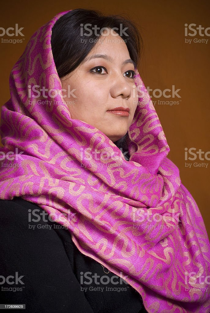 Girl with head scarf royalty-free stock photo
