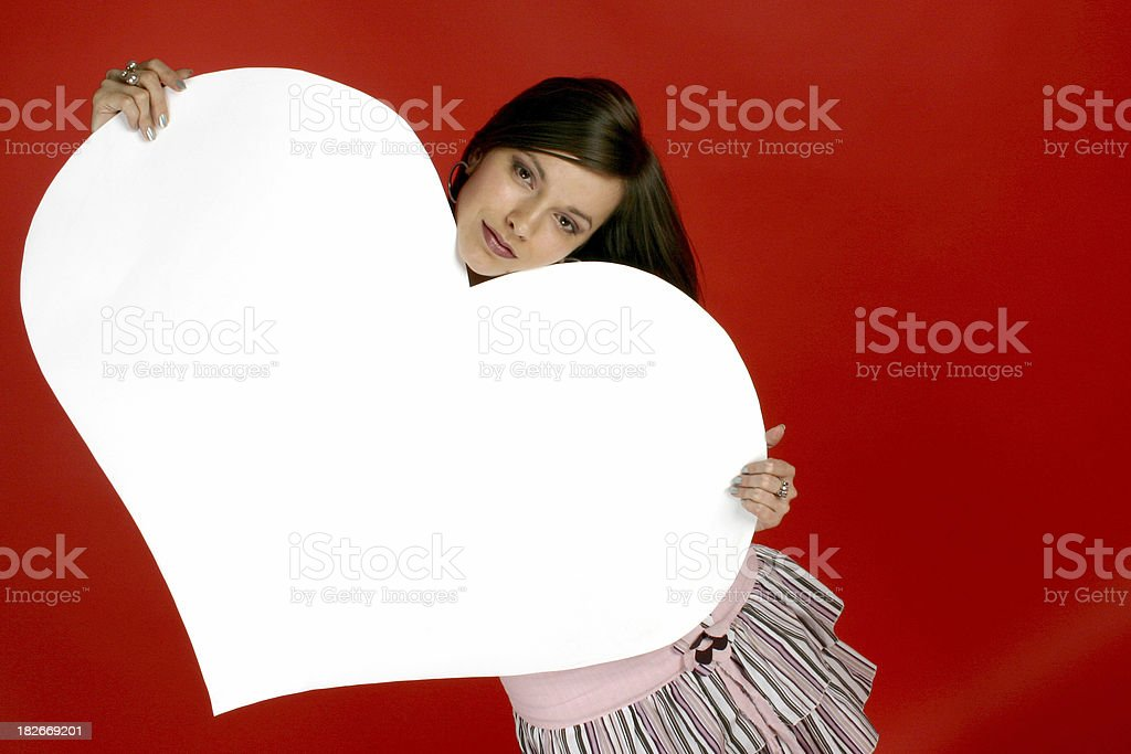 girl with heart 5 royalty-free stock photo