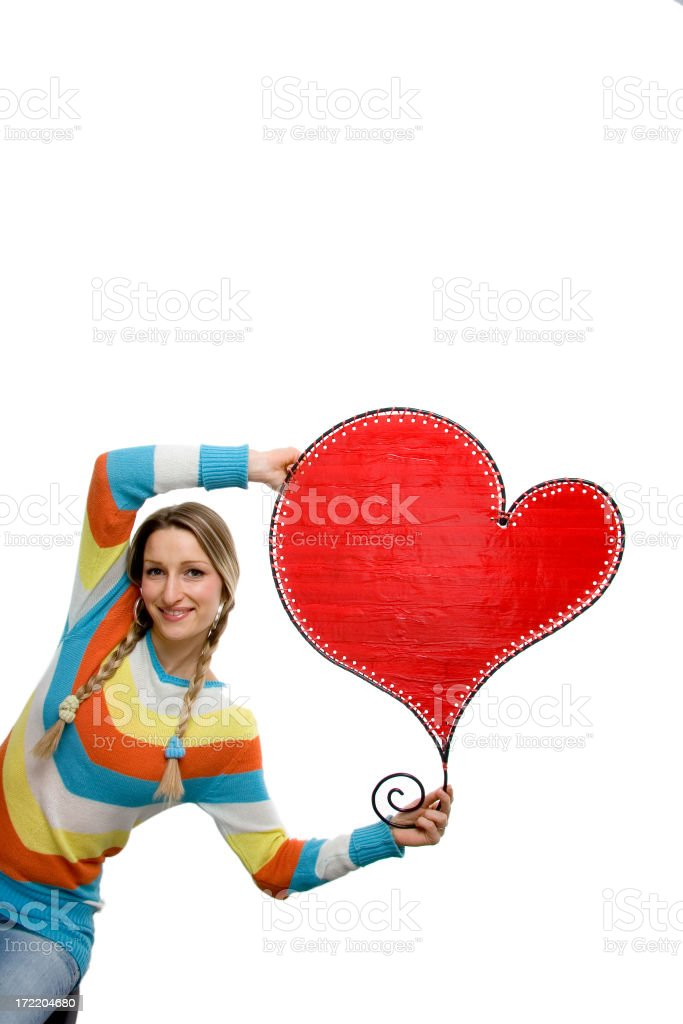 girl with heart royalty-free stock photo