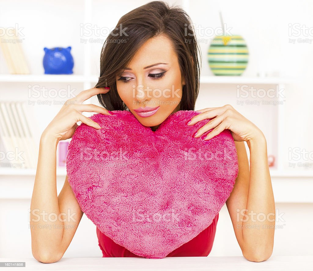 Girl with hearth royalty-free stock photo