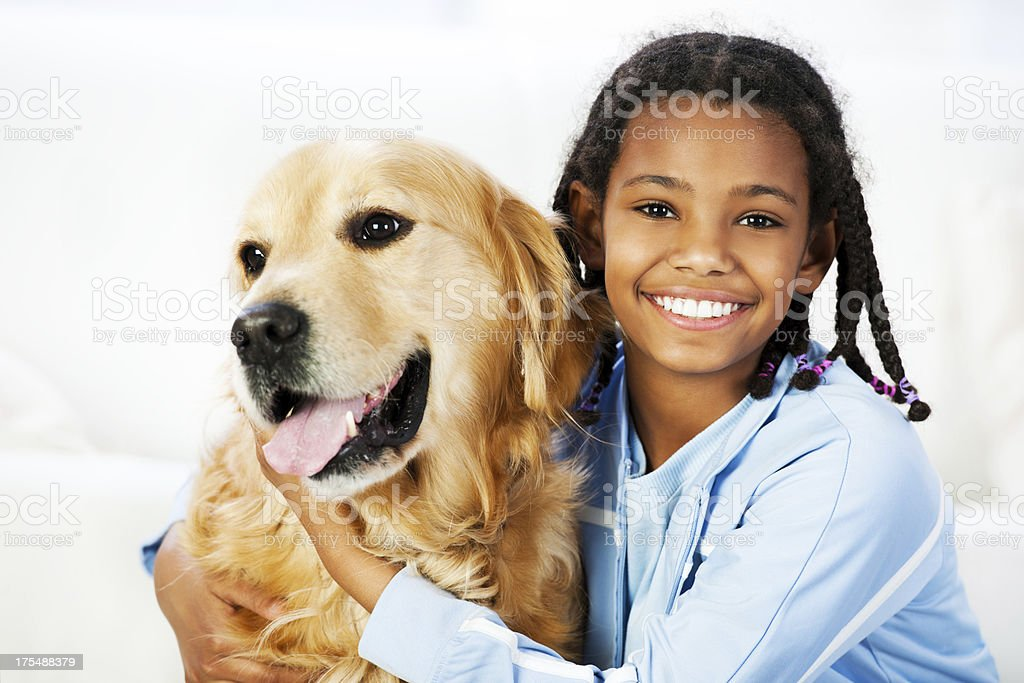 Girl with her â royalty-free stock photo