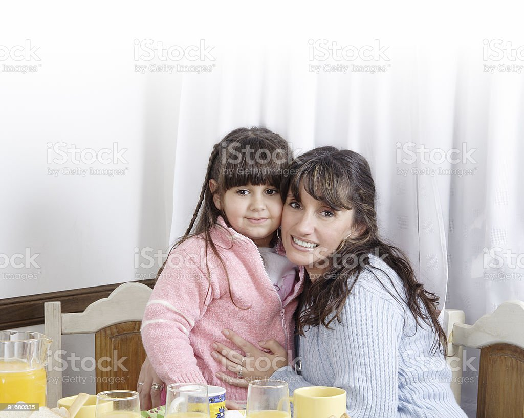 Girl with her mother royalty-free stock photo