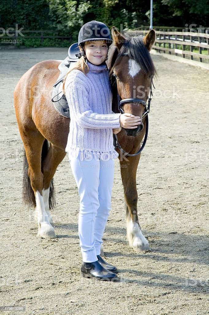 Girl with Horse royalty-free stock photo
