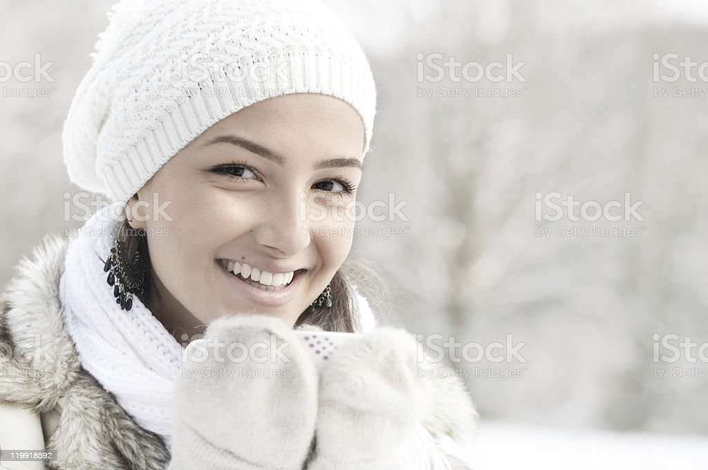 girl with hot drink royalty-free stock photo