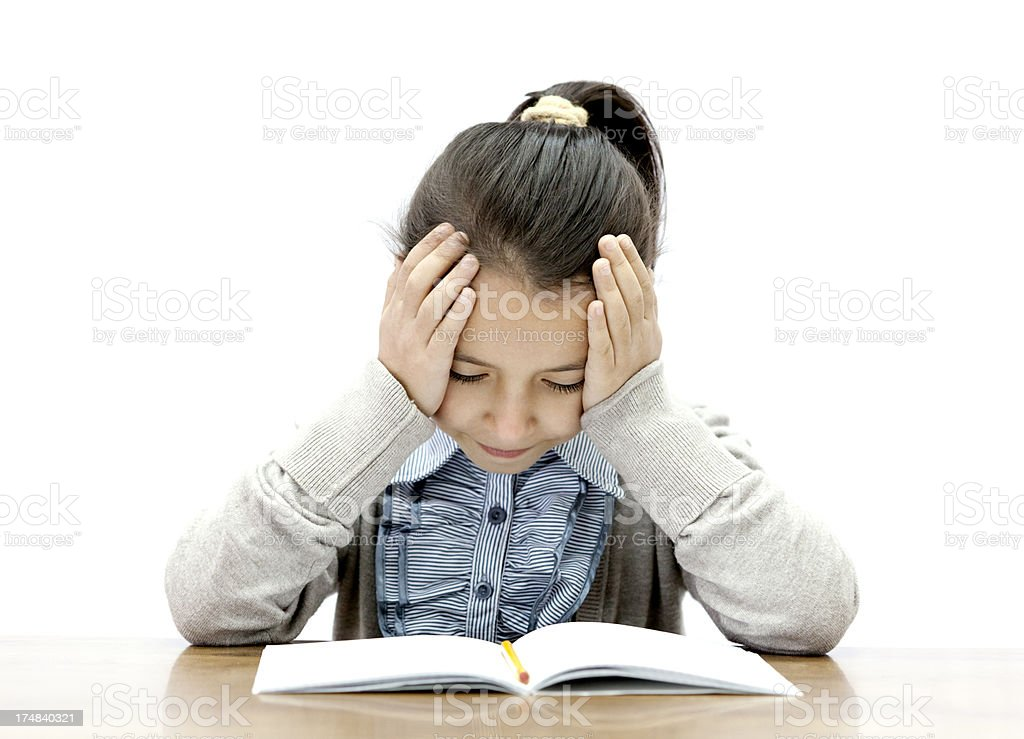 girl with learning difficulties stock photo