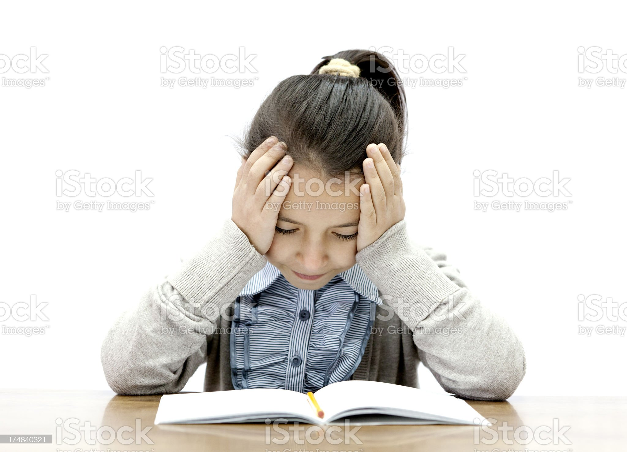 girl with learning difficulties royalty-free stock photo