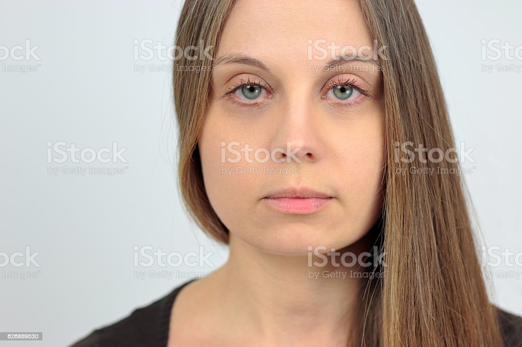 Girl with loose hair stock photo