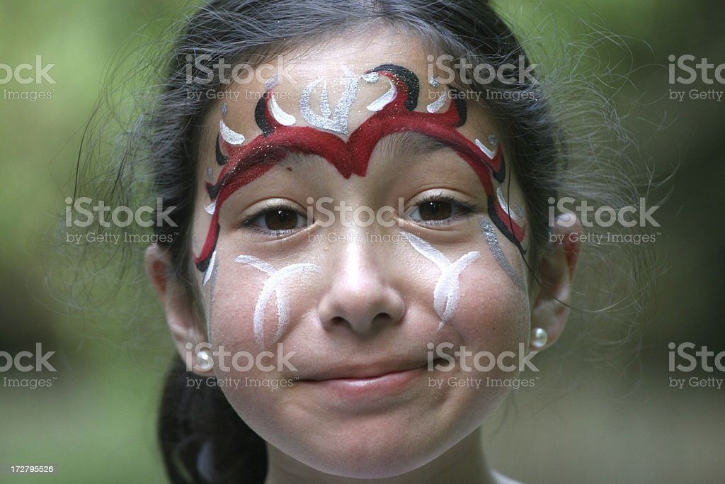 Girl with make-up royalty-free stock photo