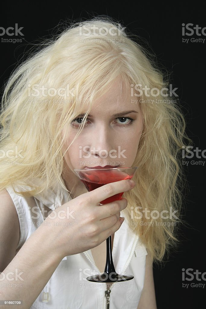 Girl with Martini royalty-free stock photo