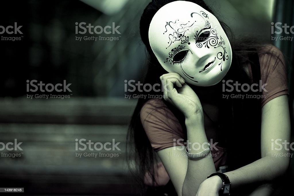 girl with mask royalty-free stock photo