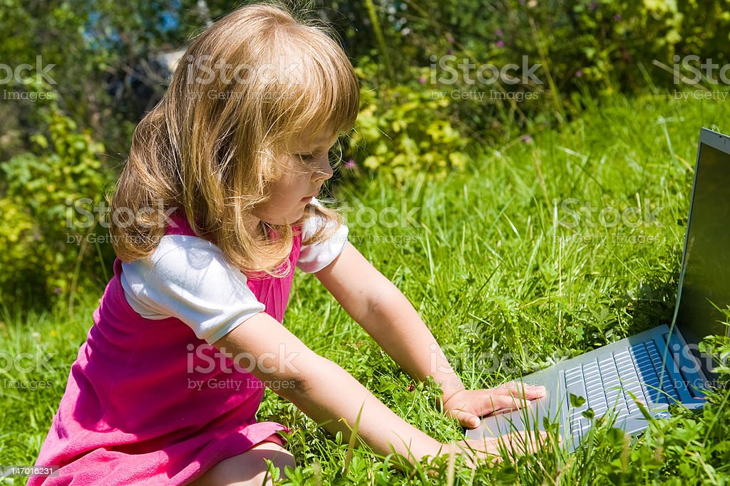 Girl with notebook royalty-free stock photo
