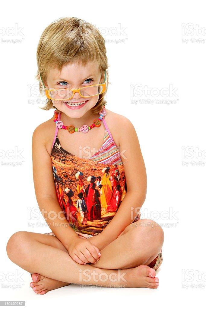 Fille avec de grands verres photo libre de droits
