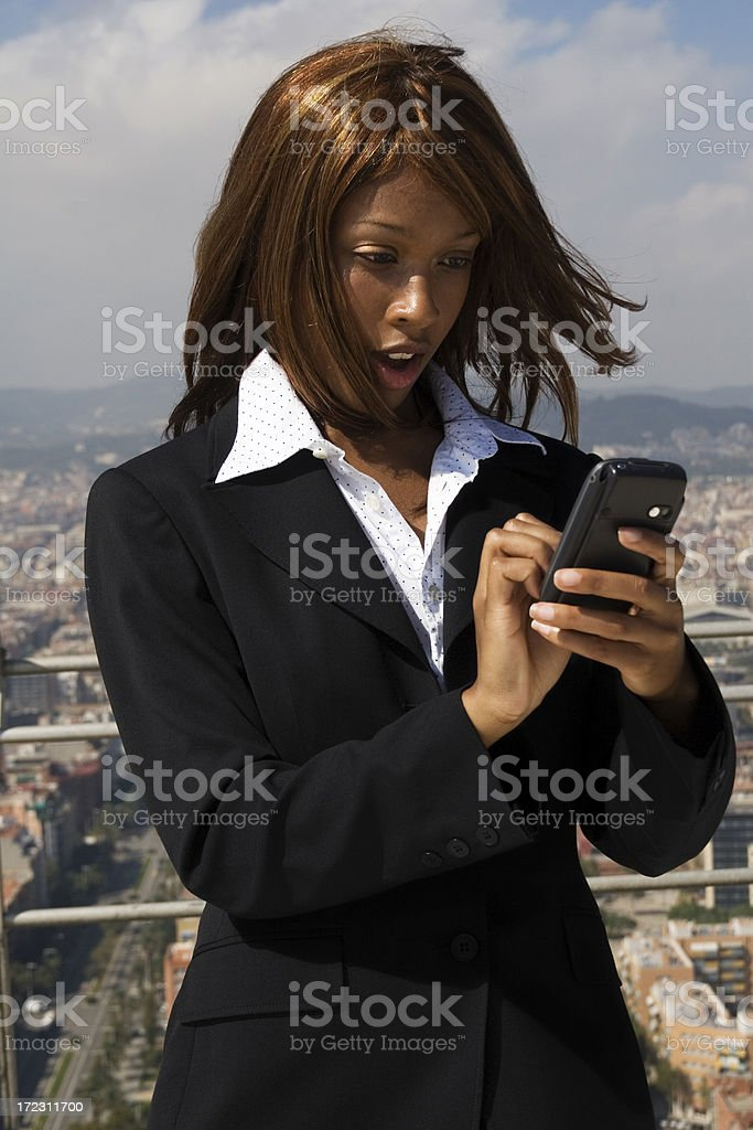 girl with PDA stock photo